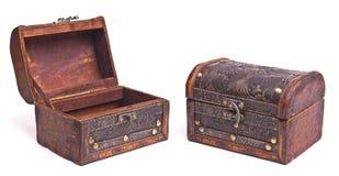Abra e feche a caixa velha Fotografia de Stock Royalty Free