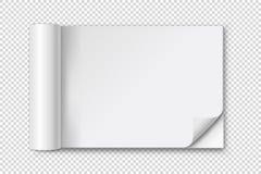 Abra el álbum o la revista en blanco con la esquina encrespada Foto de archivo libre de regalías