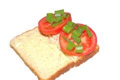 Abra el bocadillo del atún y del tomate Fotos de archivo