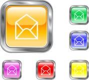 Abra el botón del email Imágenes de archivo libres de regalías
