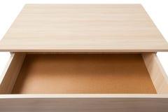 Abra el cajón con la trayectoria de recortes Fotos de archivo