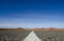 Abra el camino en New México Imágenes de archivo libres de regalías