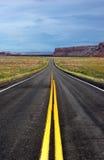 Abra el camino en Utah Foto de archivo libre de regalías
