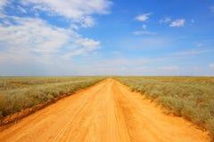 Abra el camino estepa Desierto calor Foto de archivo