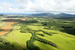 Abra el campo en Kauai Hawaii Fotos de archivo