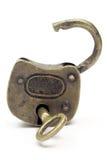 Abra el candado (el oro) fotografía de archivo libre de regalías