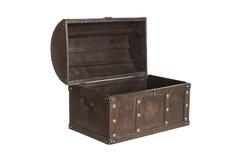 Abra el cofre del tesoro aislado Imágenes de archivo libres de regalías