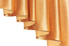 Abra el color de oro del lambrequin (portiere, cortina) en la ventana Fotografía de archivo libre de regalías