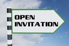 ABRA el concepto de la INVITACIÓN stock de ilustración