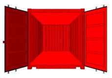 Abra el contenedor aislado en blanco ilustración del vector