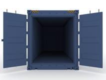 abra el contenedor para mercancías Foto de archivo libre de regalías