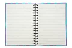 Abra el cuaderno Imagen de archivo libre de regalías