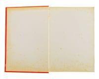 Abra el cuaderno anaranjado Foto de archivo libre de regalías