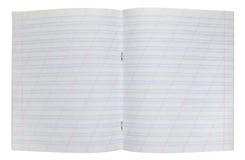 Abra el cuaderno con las páginas alineadas Fotografía de archivo libre de regalías