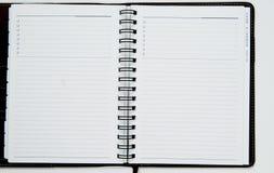 Abra el cuaderno en blanco Fotografía de archivo libre de regalías