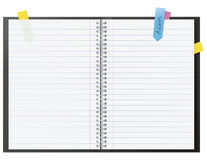 Abra el cuaderno en blanco Imagenes de archivo