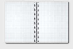 Abra el cuaderno en caja stock de ilustración