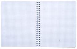 Abra el cuaderno espiral fotos de archivo