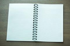 Abra el cuaderno espiral Imágenes de archivo libres de regalías