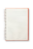 Abra el cuaderno rojo Imagen de archivo libre de regalías