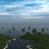 Abra el d3ia del lago horizon Fotografía de archivo