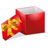 Abra el ejemplo de la caja de regalo Imágenes de archivo libres de regalías