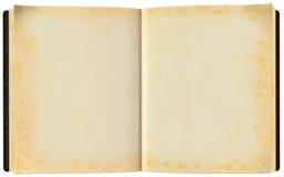 Abra el ejemplo de libro en blanco aislado Fotos de archivo