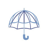 Abra el ejemplo del vector del paraguas Fotografía de archivo libre de regalías