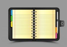 Abra el fondo del gris del organizador Imágenes de archivo libres de regalías