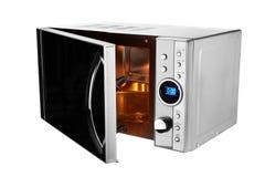 Abra el horno de microondas Fotografía de archivo