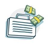 Abra el icono de la maleta Fotos de archivo libres de regalías