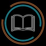 Abra el icono del libro libro de la educación aislado - literatura de la escuela, ejemplo de la revista aislado libre illustration