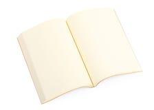 Abra el libro aislado Imagen de archivo libre de regalías