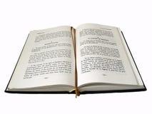 Abra el libro aislado Foto de archivo