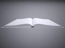 Abra el libro blanco ilustración del vector