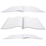 Abra el libro blanco stock de ilustración