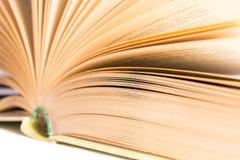 Abra el libro con el foco selectivo Foto de archivo libre de regalías