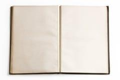 Abra el libro con las paginaciones en blanco Fotografía de archivo
