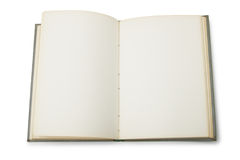Abra el libro con las paginaciones en blanco Imagenes de archivo