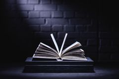 Abra el libro con las paginaciones vacías fotografía de archivo libre de regalías