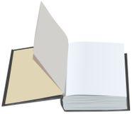 Abra el libro con las primeras hojas limpias Abra el libro con las páginas del espacio en blanco primero Foto de archivo libre de regalías