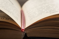 Abra el libro de la biblia Fotografía de archivo libre de regalías