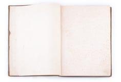 Abra el libro de la vendimia Foto de archivo libre de regalías