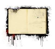 Abra el libro del diario Imagen de archivo