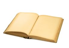 Abra el libro en blanco en blanco Imágenes de archivo libres de regalías