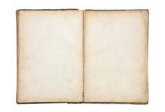 Abra el libro en blanco viejo Imagen de archivo libre de regalías