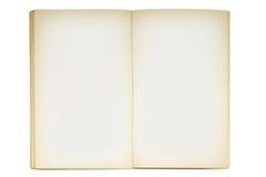Abra el libro en blanco viejo Foto de archivo