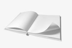 Abra el libro en el fondo blanco Imágenes de archivo libres de regalías
