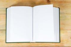 Abra el libro en el vector de madera De nuevo a escuela Copie el espacio Imágenes de archivo libres de regalías