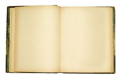 Abra el libro viejo vacío Fotografía de archivo